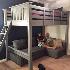 diy loft bed for kids boys / diy loft bed & diy loft bed for kids & diy loft bed for adults & diy loft beds for small rooms & diy loft bed plans & diy loft bed for kids how to build & diy loft bed with desk & diy loft bed for kids boys Boys Loft Beds, Loft Beds For Small Rooms, Loft Beds For Teens, Loft Bunk Beds, Kid Beds, Loft Bed Stairs, Adult Loft Bed, Kids Beds For Boys, Mezzanine Bed