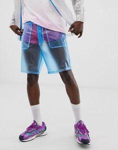 Pantalones cortos cuadrados de festival en azul transparente de ASOS DESIGN (parte de un conjunto)