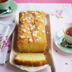 This isn't just any lemon drizzle cake, this is GLUTEN-FREE lemon drizzle cake. More delicious gluten-free sweet recipes here http://www.goodhousekeeping.co.uk/food/as-rated-by-the-ghi/8-best-gluten-free-cake-recipes