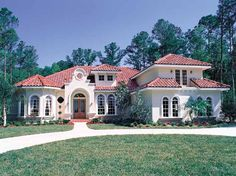 Eplans Italianate House Plan - Pristine Mediterranean Classic - 3424 Square Feet and 5 Bedrooms from Eplans - House Plan Code HWEPL10392