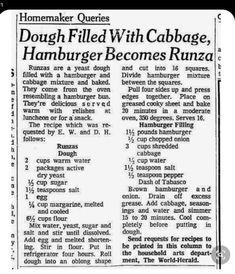Homemaking, Ground Beef, Hamburger, Cabbage, Oven, Baking, Recipes, Home Economics, Bakken