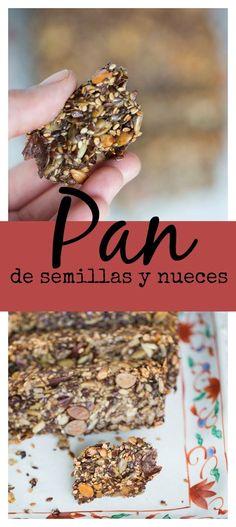 Pan de semillas y nueces sin gluten. Super receta llena de beneficios y sabor.