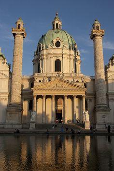Karlskirche , Vienna , Austria  Church of St. Charles Borromeo