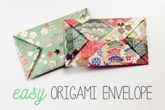 Learn how to make some super easy envelopes!: Easy Origami Envelope Instructions
