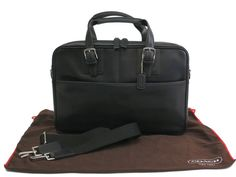 #COACH Single Zip Top Briefcase Leather Black 5264 (BF099130). #eLADY global accepts returns within 14 days, no matter what the reason! For more pre-owned luxury brand items, visit http://global.elady.com