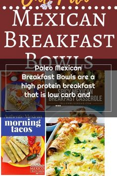 Paleo Mexican Breakfast Bowls are a high protein breakfast that is low carb and veggie packed, it's a healthy breakfast sure to please all Mexican food lovers!<br> Healthy Breakfast Casserole, Mexican Breakfast Recipes, High Protein Breakfast, Breakfast Bowls, Mexican Food Recipes, Low Carb Casseroles, Spicy, Paleo, Veggies
