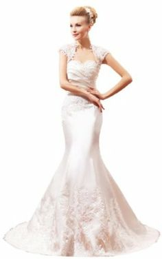 Honeystore Women's Mermaid Sweetheart Embroidery with Bolero Satin Wedding Gown Wedding Preparation List, Mermaid Sweetheart, Wedding Gowns, Satin, Bridal, Wedding Ideas, Clothes, Embroidery, Color