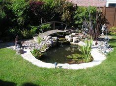 Beautiful Backyard Fish Pond Landscaping Ideas 19