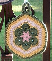 Ravelry: African Flower Potholder pattern by Darlisa Riggs