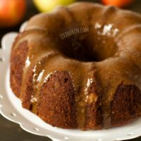 Apple Butter Cake with Maple Cinnamon Glaze (grain free, gluten free, dairy free) ~ The Clean Dish