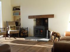 Strathearn Stone & Timber Ltd - Locally sourced oak beam with a coloured oil finish