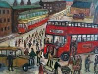 Off to The Match by Derek Higginson. Available.  Derek went to the Burslem School of Art where he first experienced the work of LS Lowry who was holding an exhibition at the school. This left a great influence on his work.  Other pieces by Derek Higginson are also available at the gallery. Derek remains fairly unknown and so very affordable for originals. Barewall hope to host an exhibition of his work in 2014.