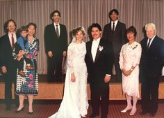 At the wedding of my brother-in-law, John, to DeeDee in New York City, ca 1989. Me, Rory, Mindy, her brother Nick Kolivas, the wedding couple, brother Ethan Won, Mindy's mother, Dolly Kang Won, and next to her, Miles Pennybacker--her ex-father-in-law. Miles made two important early career decisions because of his pacifism--quitting the Naval Academy in 1918, and then quitting Raytheon (which he named straight out of MIT) when it started war work in 1938.
