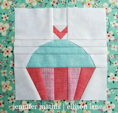 Cupcake- Block 3: Summer Sampler Sew Along by Ellison Lane Quilts, via Flickr
