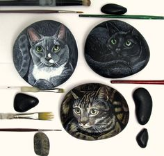 Painted+Rocks+by+Shelli+Bowler+Custom+of+your+pet+++by+Naturetrail,+$135.00