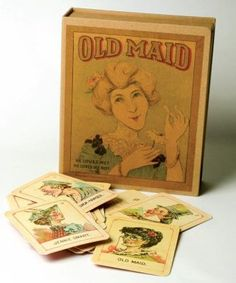 Old Maid Card Game This rare version of a classic game was discovered on Martha's Vineyard and reproduced in exactness to the antique set. 3 x cards. 38 cards, including Old Maid and instruction card. these would be beautiful in frames Vintage Games, Vintage Toys, Set Card Game, Victorian Trading Company, Old Games, Deck Of Cards, Card Deck, Antique Toys, Old Toys