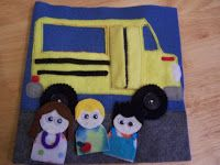 Books N Boys: Wheels on the Bus Quiet Book Page
