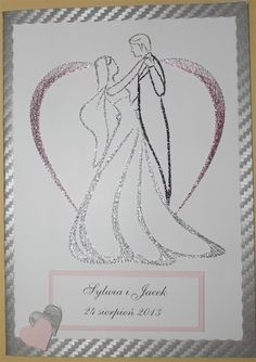 Haft matematyczny - Ślub Wedding Cross Stitch, Cross Stitch Love, Embroidery Cards, Embroidery Patterns, Paper Piercing Patterns, Embroidered Paper, Stitching On Paper, Wedding Congratulations Card, Pin Card