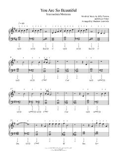 You Are So Beautiful by Joe Cocker Piano Sheet Music | Intermediate Level