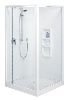 Clearlite Sierra Square Moulded Wall Shower Enclosure - Available at Pecks Plumbing Plus Manukau!