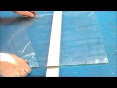 COMO CORTAR UN VIDRIO LAMINADO.  (HOW TO CUT A LAMINATED GLASS.)