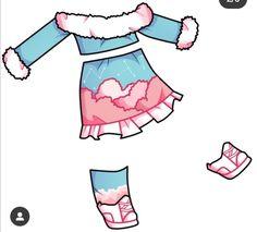 Manga Clothes, Drawing Anime Clothes, Anime Girl Drawings, Kawaii Drawings, Character Costumes, Character Outfits, Cute Eyes Drawing, Club Outfits, Cute Girl Outfits