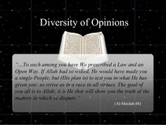 Diversity of Opinions - Quran 5:48