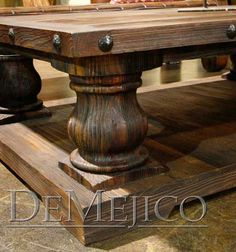 large rustic coffee table