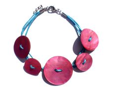 Original colorful bracelet made of fuchsia by twolittlefairies