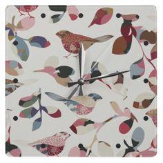 Vintage bird wallpaper #clock