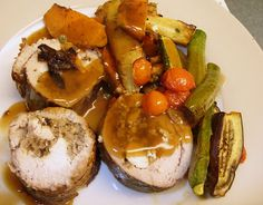 Pork Ballotine - a lot of work, but so worth it!