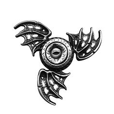 Cheap price OLD TEUCER Bat-Wings Eagle Eye Zinc Alloy Hand Tri-Spinner Stress Relief Fidget Finger Focus Desk Toy Cool for Boys (Silver) on sale