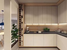 Luxury Kitchen Cabinets Luxury Kitchen Cabinets and Kitchen Design Luxury Kitchen Cabinets. If you thought that luxury kitchen cabinets are only the privilege of the rich and elite, then you are wr… Kitchen Cabinet Wine Rack, Simple Kitchen Cabinets, Simple Kitchen Design, Kitchen Cabinet Design, Flat Interior Design, Modern Apartment Design, Apartment Interior, Home Decor Kitchen, Kitchen Interior