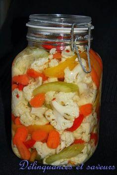 Quand j'ai vu cette marinade de légumes chez Lou , je me suis empressée de la faire. Premièrement je ne connaissais pas et ça semblait tell...