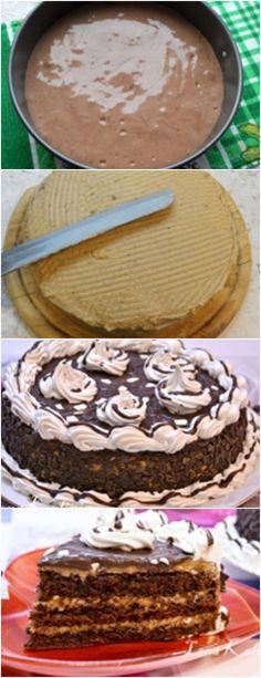 Receita de um delicioso bolo de café com chocolate, passo a passo, faça sua familia feliz!! veja aqui>>>Esquilos batem até picos persistentes, adicionando gradualmente açúcar. Adicione as gemas uma de cada vez, continuando a bater. #receita#bolo#torta#doce#sobremesa#aniversario#pudim#mousse#pave#Cheesecake#chocolate#confeitaria# Café Chocolate, Tiramisu, Mousse, Cheesecake, Ethnic Recipes, Desserts, Cakes, Coffee Candy, Chocolate Chips