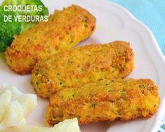 chickpea and vegetable croquettes - Comidas tradicionales - Recetas Vegan Foods, Vegan Vegetarian, Vegetarian Recipes, Cooking Recipes, Healthy Recipes, Chicken Salad Recipes, Chickpea Recipes, Veggie Recipes, Cake Recipes