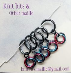 Handmade Items, Handmade Gifts, Stitch Markers, Knitting Stitches, Pretty Little, Etsy Shop, Personalized Items, Gray, Unique Jewelry