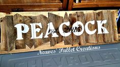 """RECYCLED WOOD PALLETS: In case you missed the other Marquee Sign we posted, we wanted to give you another opportunity to see a different one. This one is 44"""" long and 15"""" tall. We sold it for $50. These make great anniversary or wedding gifts. Message us with your questions or orders.Item # 701"""