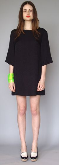 Wool Silk Cloque Drop Shoulder Shift by Karen Walker at Maximillia ($200-500) - Svpply