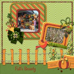 """Fall's Bounty  Credits:  """"Harvest Fall"""" Collection Exclusive QPA4  Font:  Curly Stars  Available at:   My Memories Store  - """"Harvest Fall"""" Collection Exclusive Quick PageA4 : –  https://www.mymemories.com/store/display_product_page?id=DDDR-QP-1510-94188  Coordinating Products Available at: My Memories Store: Main Kit - https://www.mymemories.com/store/display_product_page?id=DDDR-CP-1510-93950&r=Dees-Deelights"""