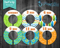 Baby Boy Closet Dividers to Organize Clothing for Baby Room   Surfs Up
