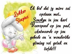 Goeie Nag, Afrikaans, Good Night, Wish, Qoutes, Messages, Joy, Nighty Night, Quotations