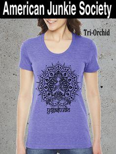 Womens YOGA Princess MANDALA  t-shirt american apparel S M L XL (7 Color Options) by AmericanJunkieSoc on Etsy