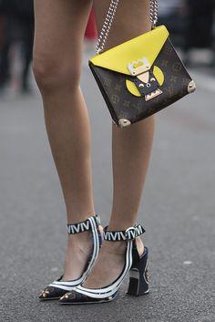 Louis Vuitton bag meet Louis Vuitton shoes.