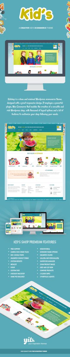 Kidshop – A creative Kid's ecommerce theme by Your Inspiration , via Behance