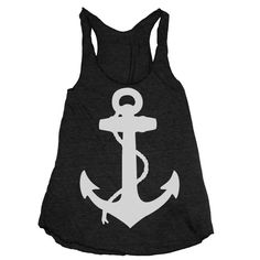 Love it- Anchors Away! Womens NAUTICAL ANCHOR american apparel TriBlend by happyfamily, $18.00