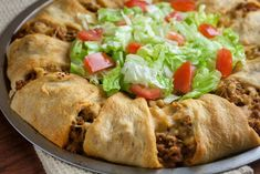 Taco Ring Top Recipes, Meat Recipes, Mexican Food Recipes, Appetizer Recipes, Cooking Recipes, Appetizers, Spanish Recipes, Spanish Food, Cinco De Mayo