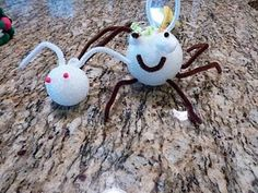 bug craft with Styrofoam balls
