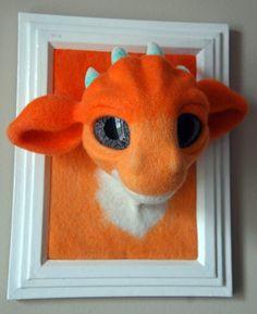 Hey, I found this really awesome Etsy listing at https://www.etsy.com/listing/235466327/faux-taxidermy-dragon-head-needle-felt