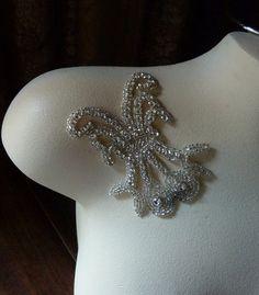 Rhinestone Applique  for Bridal Headbands  by MaryNotMartha, $7.50
